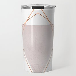 BLUSH COPPER ROSE GOLD GEOMETRIC SYNDROME II Travel Mug