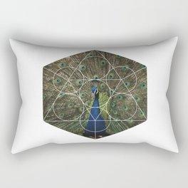 Beautiful Peacock - Geometric Photography Rectangular Pillow