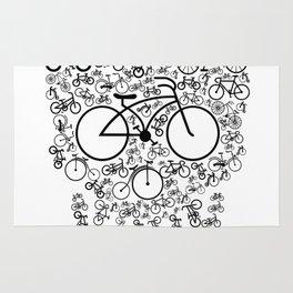 Bicycle Skull Rug