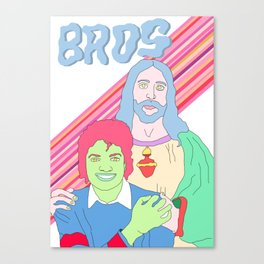 Bros in Heaven Canvas Print