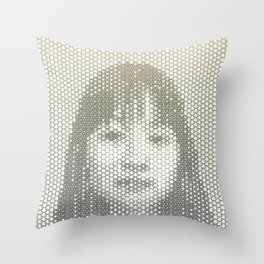 Tessellated Portraits - J.T. Throw Pillow