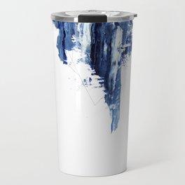 Blue abstract nr1 Travel Mug