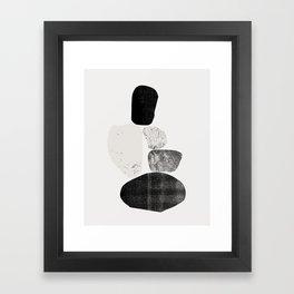 Pile of rocks Framed Art Print