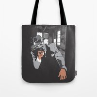 gangster Tote Bags featuring The Gangster by Dulevartiano