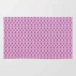 Mod Geometric Floral in Pink Rug