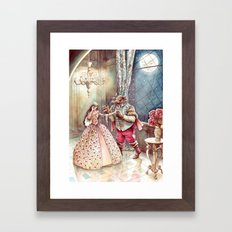 Beauty and the Beast Framed Art Print