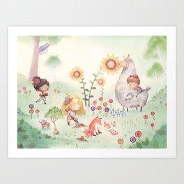 Forrest Garden Art Print