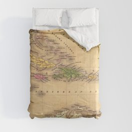 Map Of The Caribbean 1828 Comforters