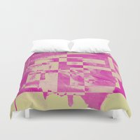 pop art Duvet Covers featuring Pop by MonsterBrown