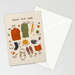 Autumn must-haves Stationery Cards