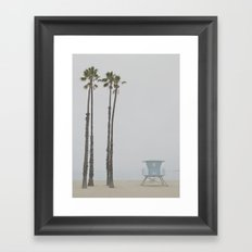 motionless coast Framed Art Print
