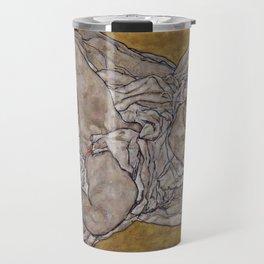 Egon Schiele - Reclining Woman (1917) Travel Mug