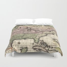 Vintage Map of America (1720) Duvet Cover