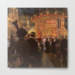 Carnival Fairgrounds by Hans Baluschek Metal Print