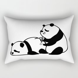 Love Hurts Panda Rectangular Pillow