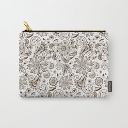 Mehndi or Henna Flowers Carry-All Pouch