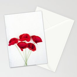 A Bunch Of Red Poppies Stationery Cards