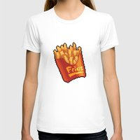fries T-shirts featuring Pixel Fries by TheSkywaker