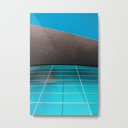Aquatics Centre, designed by Zaha Hadid , London. Architecturephotography poster art print  Metal Print
