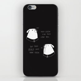 the emotional ups and downs of being a dog owner iPhone Skin