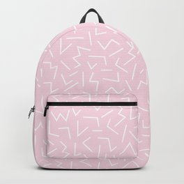 Zig Pattern – Pink Backpack