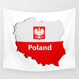 Poland map Wall Tapestry