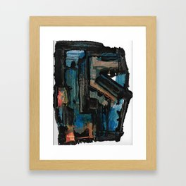 Bejewelled Modern Abstract Cubism Framed Art Print
