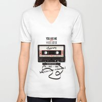 history V-neck T-shirts featuring History by Art of Nanas