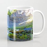 waterfall Mugs featuring Waterfall by 2sweet4words Designs