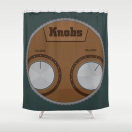 Knobs Shower Curtain