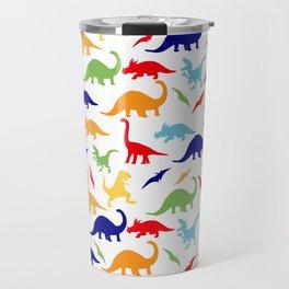 Colorful Dinosaurs Pattern Travel Mug