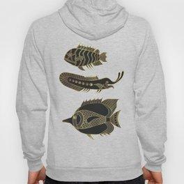 Fantastical Fish 1 - Black and Gold Hoody
