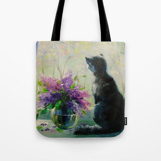 Cat Vaska Tote Bag