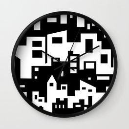Stacked Cityscape Wall Clock