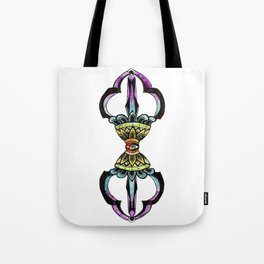 Rainbow Vajra - Tibetan Dorje Drawing Tote Bag