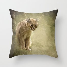 Caracal- wild cat Throw Pillow
