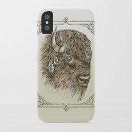 Portrait of a Buffalo iPhone Case