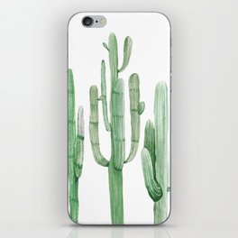 Three Amigos White + Green by Nature Magick iPhone Skin