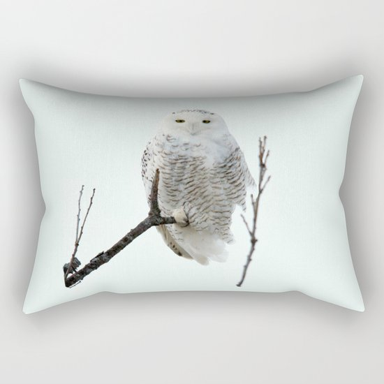 Snowy in the Wind (square) Rectangular Pillow