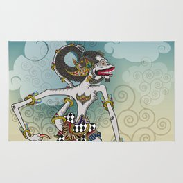Modification of the puppet characters Hanuman white monkey in the story of the Ramayana Rug