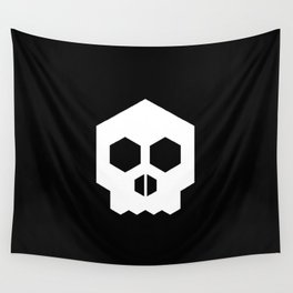 hex geometric halloween skull Wall Tapestry