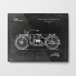 1919 Design for a Motorcycle Patent  Metal Print