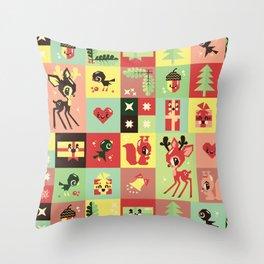 Christmas Geometric Pattern No. 2. Throw Pillow