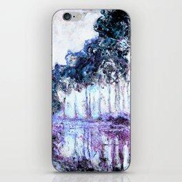 Monet : Poplars Lavender Periwinkle Deep Blue iPhone Skin