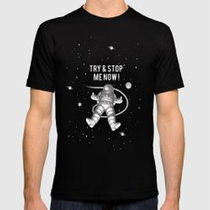 Try and stop me now! MEDIUM Black Mens Fitted Tee