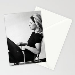 Brigitte Bardot , Vintage French Actress , Poster, Style print , home decor, classic french model, Fashion photography Stationery Cards