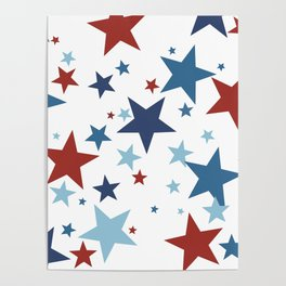Stars - Red, White and Blue Poster