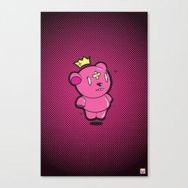 Pink Dead Bear Canvas Print