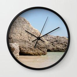 Rock from the beach of Arrabida, Setubal, Portugal. Wall Clock