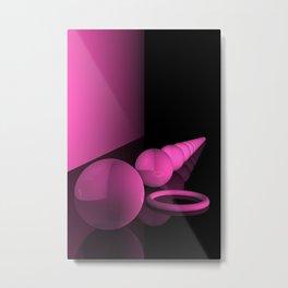 pink geometry Metal Print